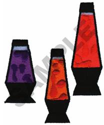 LAVA LAMPS embroidery design