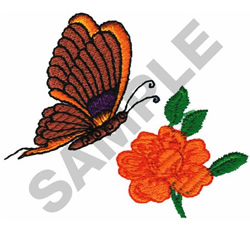 BUTTERFLY WITH FLOWER embroidery design