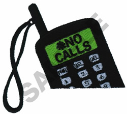 CELLULAR PHONE embroidery design