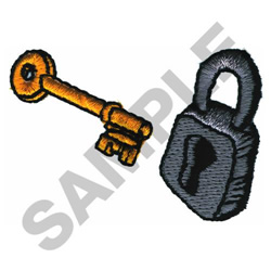 LOCK AND KEY embroidery design