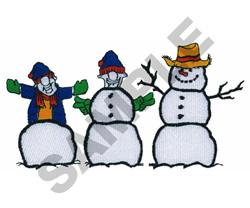 SNOWMEN embroidery design