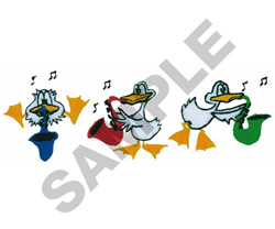 ANIMATED DUCK BAND embroidery design
