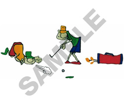 ANIMATED GOLF LESSON embroidery design