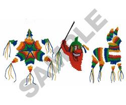 PINATA PARTY BORDER embroidery design