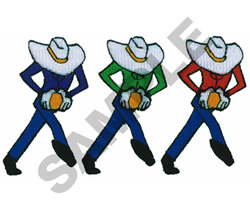 ANIMATED COWBOYS embroidery design