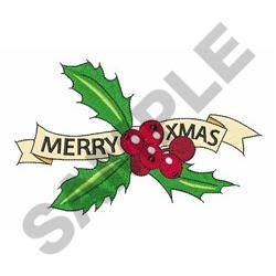 Merry Xmas embroidery design