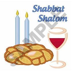 Shabbat Shalom embroidery design