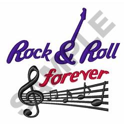 Rock &  Roll Forever embroidery design
