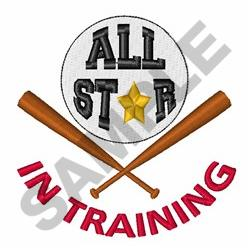 All Star In Training embroidery design