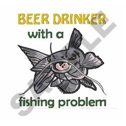 Beer Drinker embroidery design