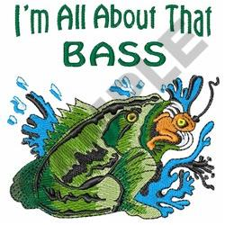 All About That Bass embroidery design