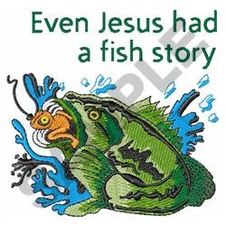 Jesus Had Fish Story Embroidery Designs Machine