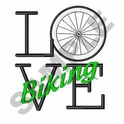 Love Biking embroidery design