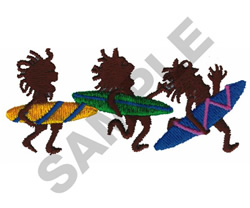ANIMATED SURFERS embroidery design