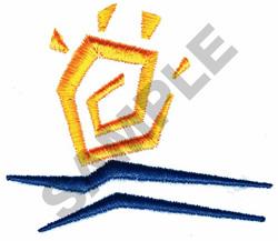 SUN & WATER embroidery design