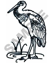 EGRET BIRD FILE#12 embroidery design