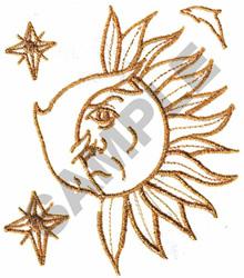 DOLPHIN & SUN FILE#16 STELLAR(A,B) embroidery design
