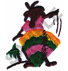 ANIMATED JAMAICAN DRUMMER embroidery design