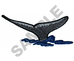 WHALE FLUKES embroidery design