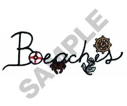 BEACHES embroidery design