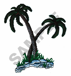 PALM TREES (PUFFY FOAM) embroidery design