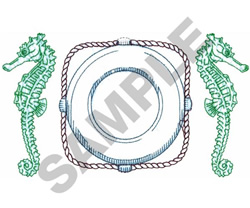 SEAHORSE CREST embroidery design