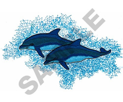 BOTTLENOSE DOLPHINS embroidery design