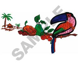 ISLAND SCENE APPLIQUE embroidery design