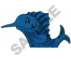 SAILFISH POCKET TOPPER embroidery design