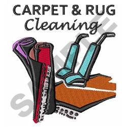 CARPET AND RUG CLEANING embroidery design