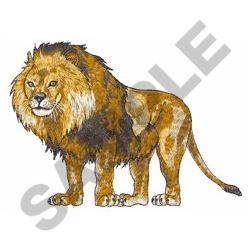 MALE LION embroidery design