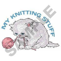 MY KNITTING STUFF embroidery design