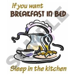 BREAKFAST IN BED embroidery design