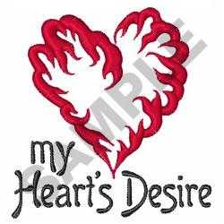 MY HEARTS DESIRE embroidery design