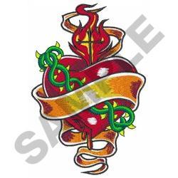 SACRED HEART TATTOO embroidery design