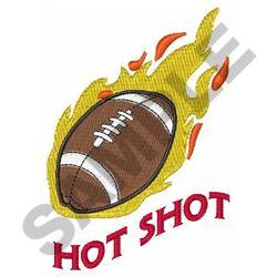 FOOTBALL HOT SHOT embroidery design