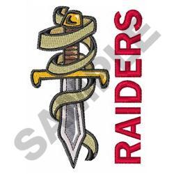 DAGGER RAIDERS embroidery design