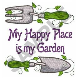 HAPPY PLACE IS MY GARDEN Embroidery Designs, Machine ...