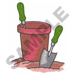 EMPTY CLAY POT embroidery design