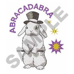 ABRACADABRA RABBIT embroidery design