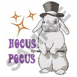 HOCUS POCUS RABBIT embroidery design