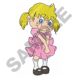 SHY LITTLE GIRL embroidery design