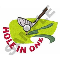 GOLF HOLE IN ONE embroidery design