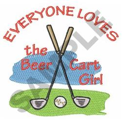 LOVE  BEER CART GIRL embroidery design