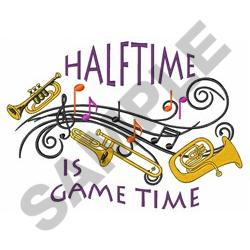 HALFTIME IS GAME TIME embroidery design