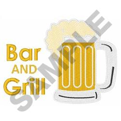 BAR AND GRILL embroidery design