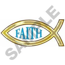 CHRISTIAN FISH FAITH embroidery design