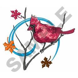 AUTUMN CARDINAL embroidery design