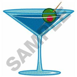 LARGE MARTINI embroidery design