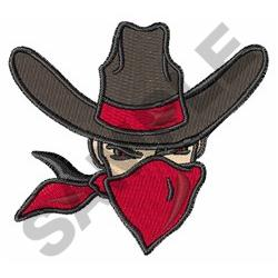 COWBOY OUTLAW embroidery design